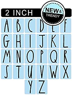 Barn Star Rae Dunn Inspired Alphabet Letter Stencil Kit, 2 Inch - Paint Your Own Signs - Reusable