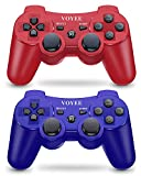 VOYEE PS3 Controller, Upgraded PS3 Wireless Controller for Sony Playstation 3 (Blue & Red)