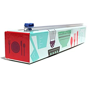ChicWrap Cook's Tools Refillable Plastic Wrap Dispenser with Slide Cutter and 250' of Professional BPA Free Plastic Wrap