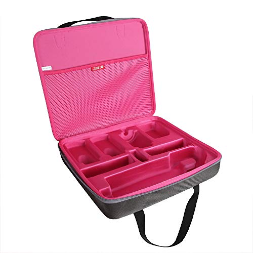 Hermitshell Travel Case for Dyson Airwrap Complete Styler and all accessories (Rosy+Grey)