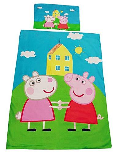 Textil para el hogar infantil, juego de cama con Peppa Wutz y Luzie Locke, 100% algodón, OEKO-TEX