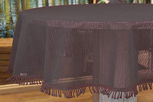Kamaca Wetterfeste geschäumte Outdoor Tischdecke ABWASCHBAR WETTERFEST SCHMUTZABWEISEND Weichschaum (160 cm rund, ANTHRAZIT geschäumt)