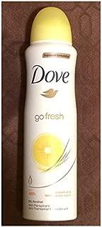 Dove Improved Formulation Go Fresh Anti-Perspirant Deodorant Spray Grapefruit & lemongrass Scent (4 Can)