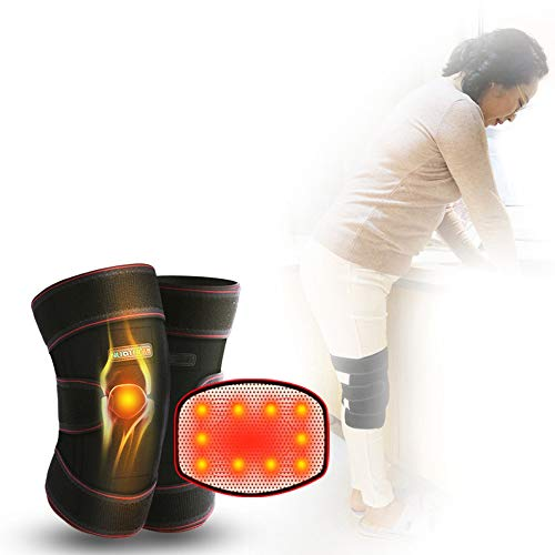 AUEDC Magnetic Tourmaline Therapy Knee Support, Self-Heating Knee Pad Warm Knee Pads for Knee Injury, Arthritis Pain, Muscles Pain Relief The Best Gift for The Elderly
