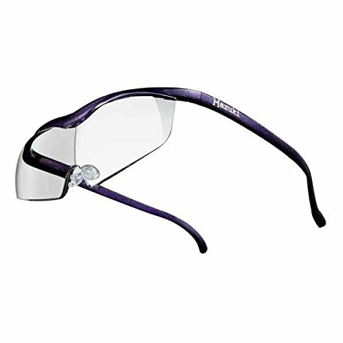 Hazuki ハズキルーペ ラージ 1.6倍 ブルーライト対応 クリアレンズ 紫 [ ハズキ 拡大眼鏡 拡大鏡 拡大レンズ 拡大メガネ 眼鏡型 めがね型 メガネタイプ 眼鏡 メガネ ルーペ 精密作業 ブルーライト UVカット ]
