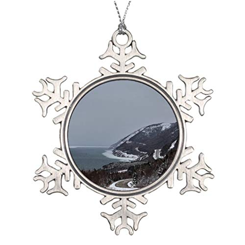 Christmas Ornaments, The Snowy Side Of The Trail Pewter Ornament, Snowflake Ornament Tree Hanging Decor Gift,3 Inch