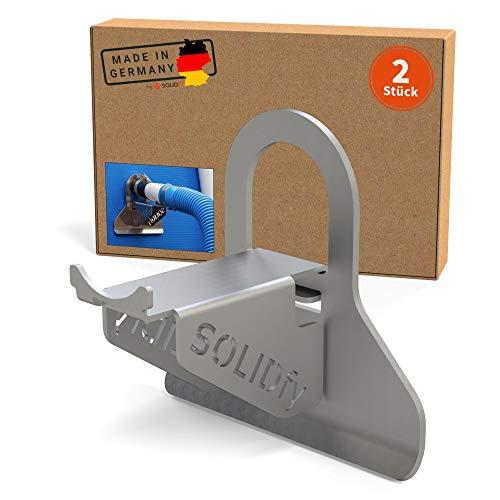 SOLIDfy - Supporto per tubo flessibile da piscina, 2 x 26 mm – 38 mm, protezione antipiega in acciaio inox per piscina Intex e Bestway