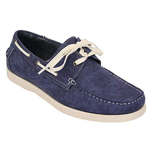 Jeans Hommes Chaussures Bateau En Cuir Volant Dentelle Vers Le Haut Pont Galax Chic DécontractéÉté Neuf - Bleu - GH605, 6.5 UK
