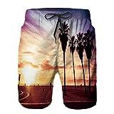 Bañador De para Hombre Pantalones Playa Shorts, Azul California Venice...