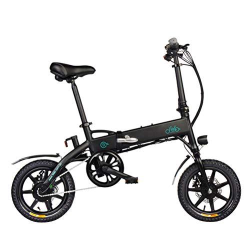 FIIDO D1 Bicicleta de Montaña Eléctrica Bicicleta Eléctrica Plegable Ebike Bicicleta Eléctrica Ligera Plegable 250W 36V con Pantalla LCD de Llantas de 14 Pulgadas para Adultos Que