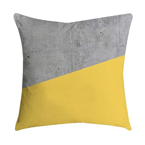 VJGOAL Impresión Amarilla Suave cómodo Funda de Almohada Sofá Cintura del Coche Cojín Cuadrado Cubierta Decoración para el hogar(45_x_45_cm,Multicolor10)
