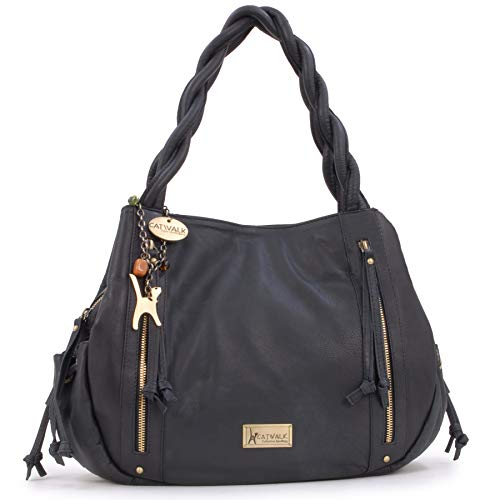 CATWALK COLLECTION - CAZ - Bolso estilo shopper - Cuero - Negro
