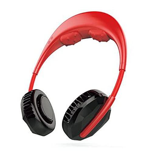 abbybubble Rechargeable Portable Mini USB Massage Ventilateur de Cou Ultra Silencieux Refroidisseur Climatiseur sans Feuilles Suspendu Ventilateur de Cou