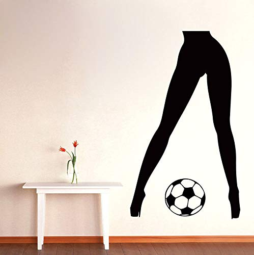 Tianpengyuanshuai Wandtattoo Fußball Vinyl Aufkleber Aufkleber Gym Dekoration 67X106cm