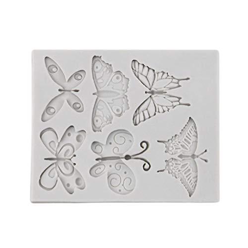 VVXXMO Molde de silicona con mariposas, Molde de caramelo para decoración de mini tartas, Molde de...