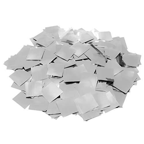 Confeti Cuadrado Brillo 2 cm. | Bolsa 100 gr. (Plata) | #Llu