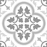 FloorPops FP2953 Remy Peel & Stick Floor Tiles, Grey