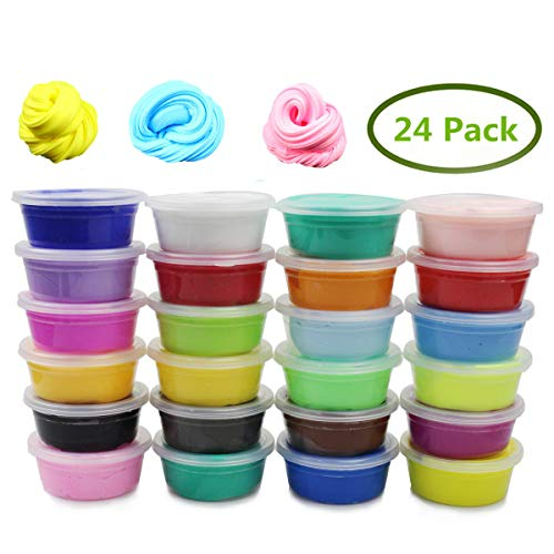 Anditoy 24 Colors Air Dry Clay Modeling Clay Kit Polymer Clay for Kids Girls Boys Ages 3-12 Year Old DIY Arts and Crafts Slime Party Favors