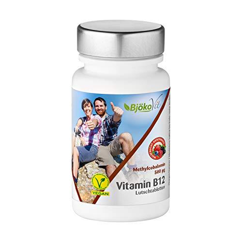 BjökoVit Vitamin B12 Lutschtabletten - Methylcobalamin - 500mcg - 60 Stück