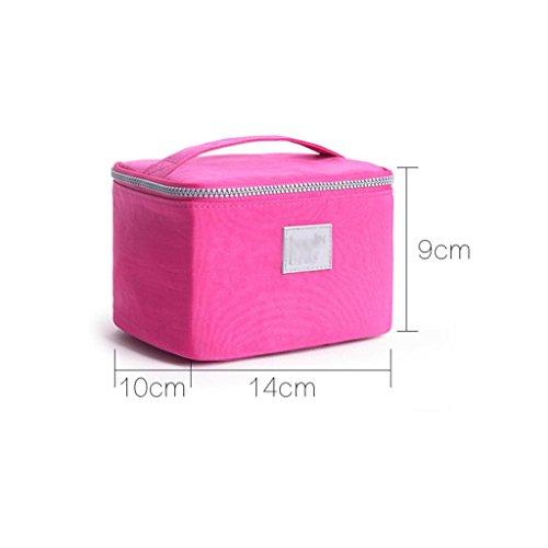 HUIJU Cube Coréen Portable Sac cosmétique Dame Grande capacité Portable Poche Voyage étanche Lavage Petit Sac carré (Rose), Grey, M