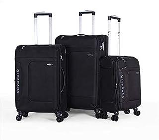 جيوردانو طقم حقائب سفر بعجلات,  3 قطع مع 4 عجلات, اسود - 18003