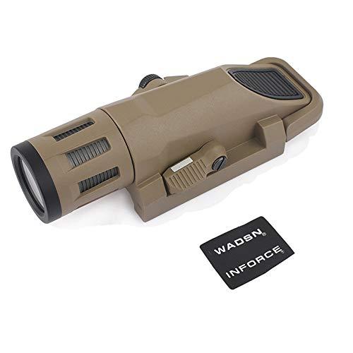 WADSN WML - Luz de pistola de 230 lúmenes de alto brillo LED linterna táctica para caza Airsoft (desierto)