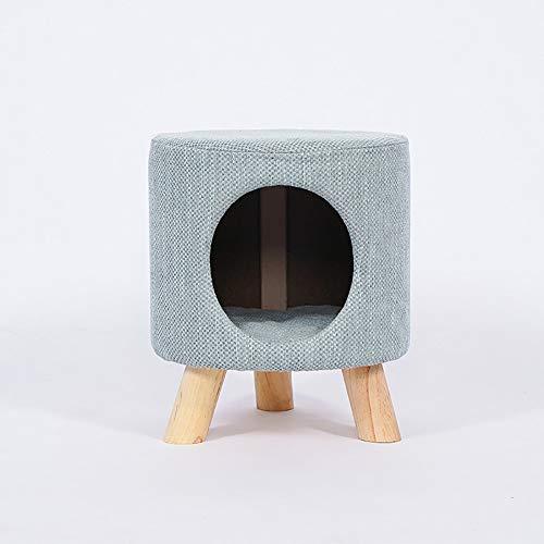 MGWA Cama para perro, diseño de cilindro, simple, para verano, semicerrado, para gatos y gatos, suministros para mascotas, nido de arena para gatos (tamaño : M)