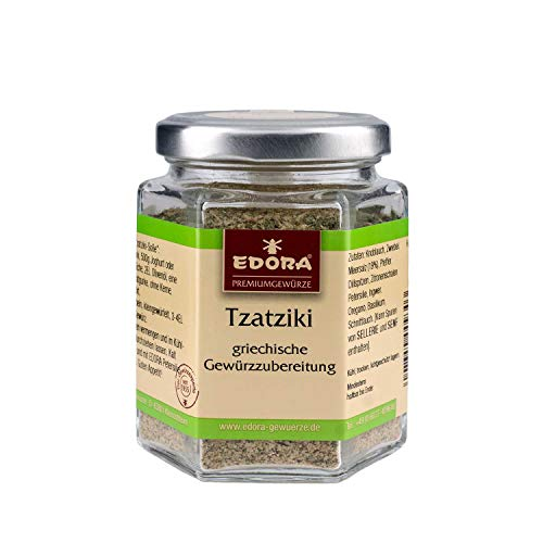 Premium Qualität Gewürz EDORA Schraubglas Tzatziki Cacik Griechische Gewürzzubereitung 90 Gramm
