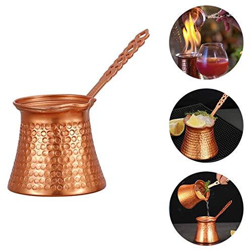 BesDirect 300 ml türkische Kaffeekanne, griechisch-arabische Kaffeemaschine, Kupfer-Cezve-Kaffeekanne für türkischen Kaffee, Kaffeewärmer-Milchkanne mit Griff Küchenutensilien