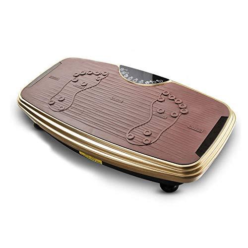 Topashe Plataforma Vibratoria Ultra Slim,Máquina de Adelgazamiento de Grasa Perezosa, máquina de agitación de Fitness-Golden,Vibratoria Máquina de Ejercicio