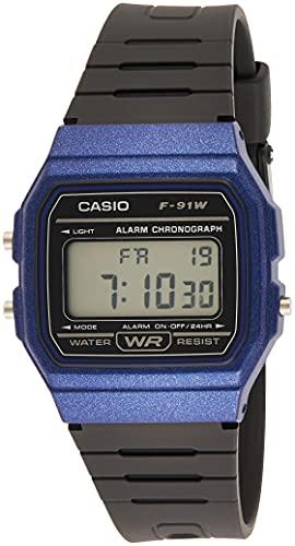 Casio Reloj Digital para Unisex de Cuarzo con Correa en Resina F-91WM-2AEF