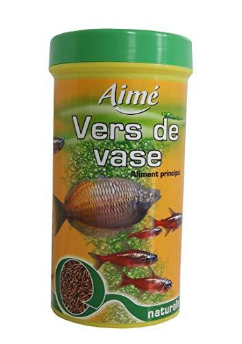 AIME Nourriture Vers de Vases 250 Ml pour Aquariophilie, Nourriture Naturel Poissons