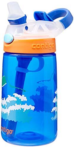 Garrafa De Água Infantil com Bico e Canudo, Contigo, Gismo Flip, Azul, 414ML