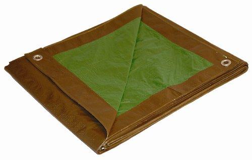 10x14 Multi-Purpose Brown/Green Medium Duty DRY TOP Poly Tarp (10'x14')