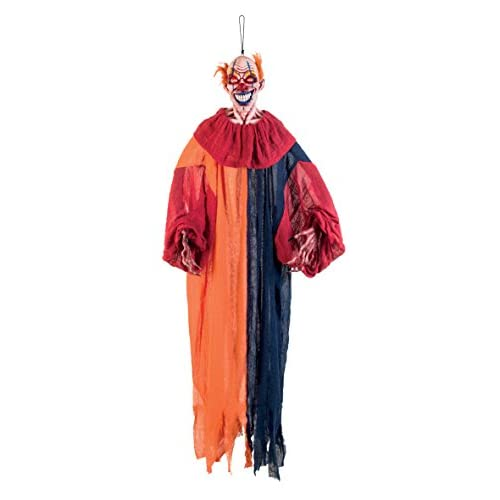 Boland- Decorazione Panic Clown con Luci, Rosso/Blu/Arancione, 190 cm, 73015