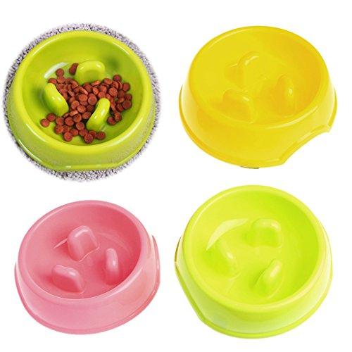 Yunso 1 Stück Anti-Schling-Futternapf, rutschhemmend, für langsames Fressen, gesundes Design, für Hunde und Katzen