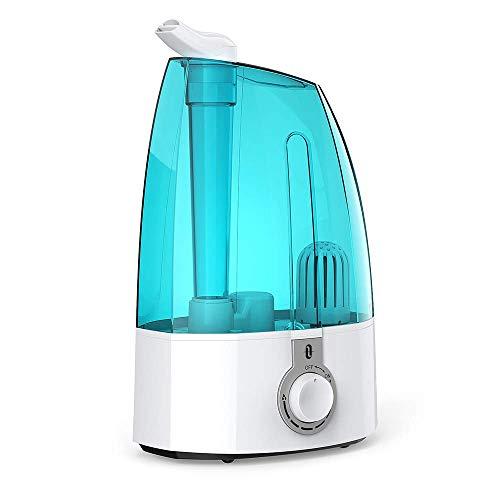TaoTronics Luftbefeuchter Ultraschall 3,5L mit extra Feiner Keramikfilter für Wohnzimmer Kinderzimmer, Leiser Betrieb 38dB, Max. 300 ml/h Ausstoß, 360° drehbare Dampfdüsen, Autoabschaltung, Eis-blau
