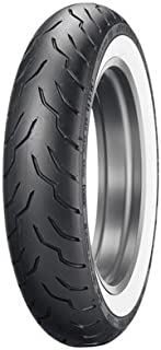 Dunlop American Elite Front Motorcycle Tire 130/90B-16 (67H) Wide White Wall for Harley-Davidson Softail Slim FLSL 2018