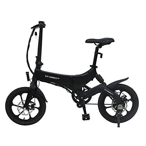 Autoshoppingcenter Elektrofahrrad Mountainbike Klapprad 16 Zoll Ebike mit 36V/6.4Ah Lithium-Akku, 250W Motor 25km/h, Verstellbarer Sitz, Vordere und hintere Scheibenbremse, für Herren Damen E-MTB
