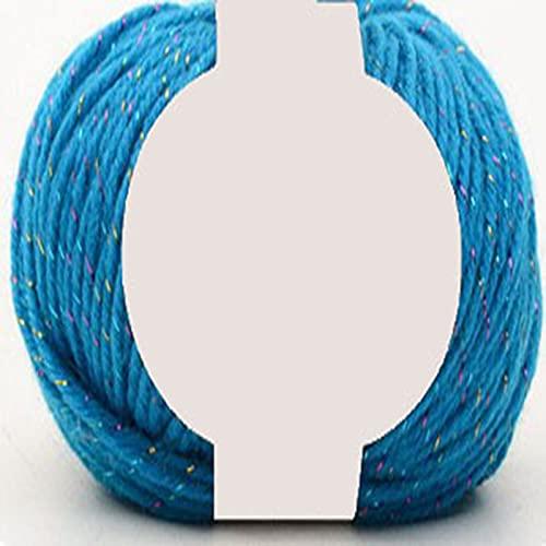 Zoomlie Hilo acrílico de doble punto de 50 g, disponible en 36 colores, ligero, hipoalergénico,...