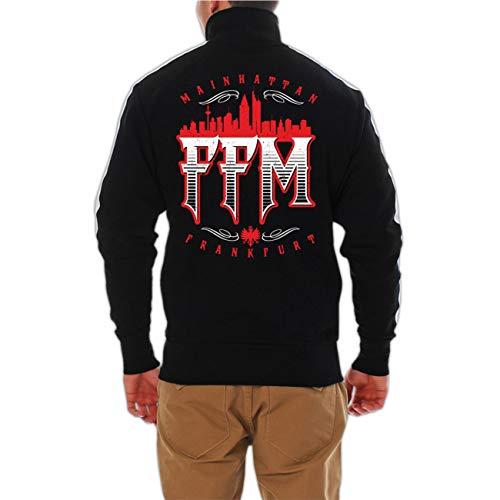 Life Is Pain Männer und Herren Trainingsjacke Frankfurt FFM Mainhattan (mit Rückendruck) Größe S - 3XL