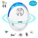 JeeLet Repellente ultrasuoni, Repellente per Insetti Elettrico,per Topi, Anti Topi Ratti Zanzare Insetti Ragni Parassiti Scarafaggi respirazione Luce Notturna,4pack