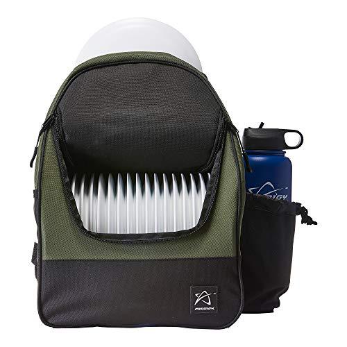 Prodigy Disc BP-4 Disc Golf Backpack Bag - Holds 16-18 Discs, Lightweight, Great for Beginners (Dark Green)