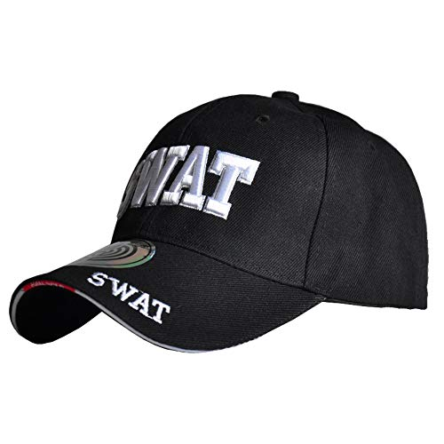thematys S.W.A.T. Kappe in schwarz Basecap FBI Mütze - SWAT Cap perfekt für Karneval, Halloween & Cosplay
