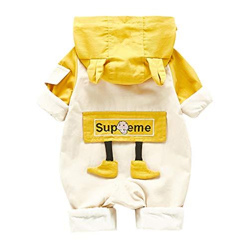 baskopa 3-6 Months Babg Boy Clothes Long Sleeve Hoodie One-Piece Romper Button Bodysuit Jumpsuit Fall Winter Outfits Yellow