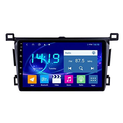 Coche Navegación System Android 9.1 para Toyota RAV4 2013-2018 Cuatro Nucleos 9' HD Pantalla Táctil In Dash Car con GPS Sat Nav USB FM 4.0 Bluetooth WiFi USB