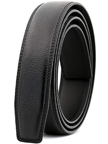 Nelbons Herren Gürtel Ratsche Automatik Gürtel für Männer 30mm Breit Ledergürtel, Ohne Schnalle (C3 Länge 130cm Geeignet für 28-45 taille)