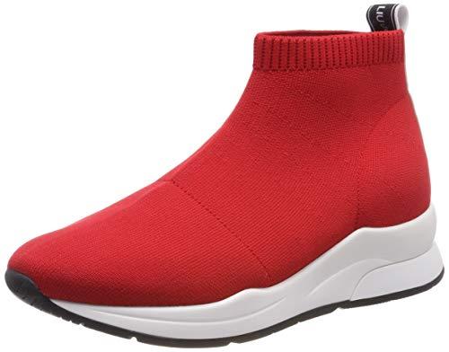 LIU JO SHOES Damen Karlie 16-ELASTICK Sock Sneaker, Rot (Rouge 91764), 40 EU