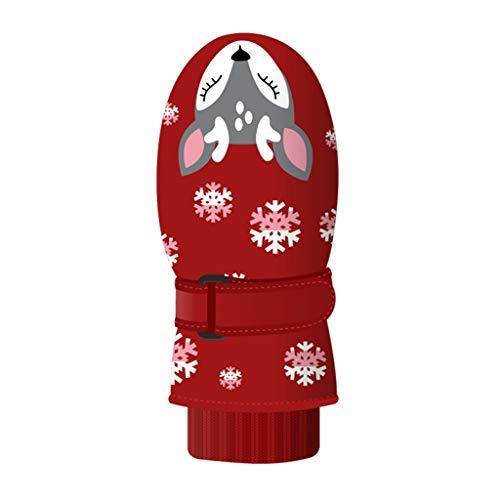 Amphia Handschuhe, Kinder Winter Handschuhe, Kinder Skihandschuhe, Jungen und Mädchen Winter kalt und Winddicht wasserdicht rutschfeste dreischichtige warme Outdoor-Handschuhe