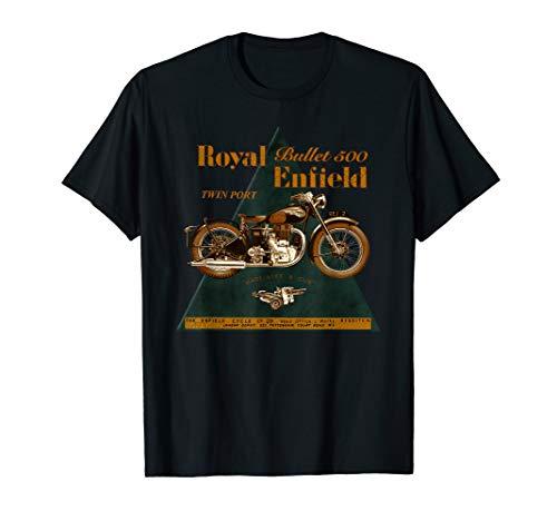Das legendäre Royal Enfield Bullet 500 Motorrad T-Shirt